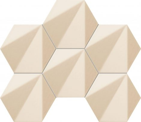 Tubadzin Chenille Beige hex 28,9x22,1 Mozaik